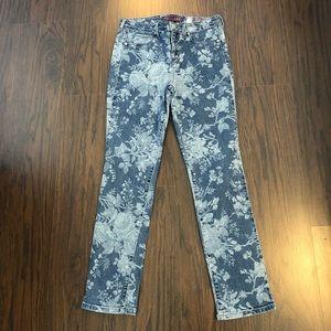 Gloria Vanderbilt denim jeans Sadie skinny floral